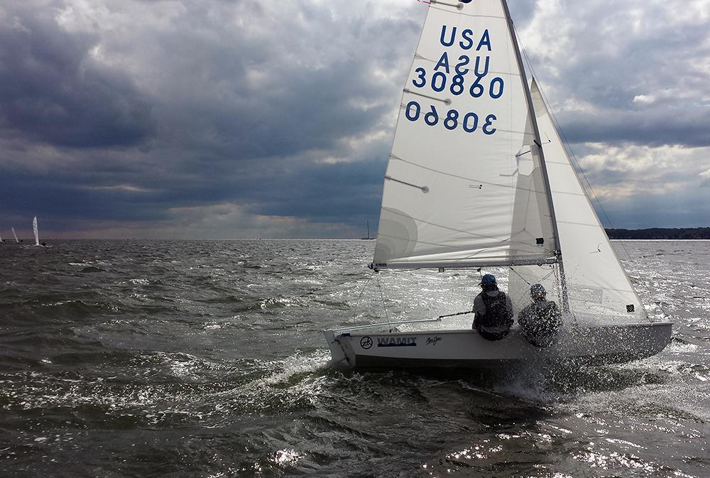 Sailing upwind Frigid Digit 2014