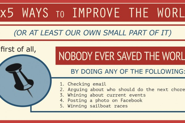 3x5 ways to improve the world