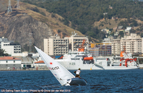 USSTS Laser sailor in Rio test event for 2016 Olympics