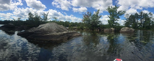 Pitcher Pond SUP panoramic