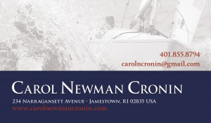 Carol Newman Cronin business card