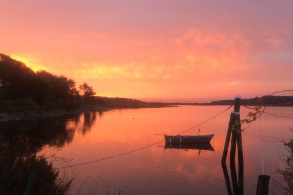 Dutch harbor red sunrise