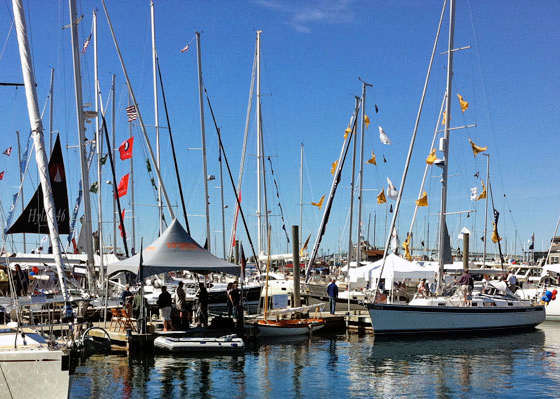masts at Newport boat show 2012