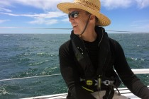Paul sailing Kincora to woods hole June 2017