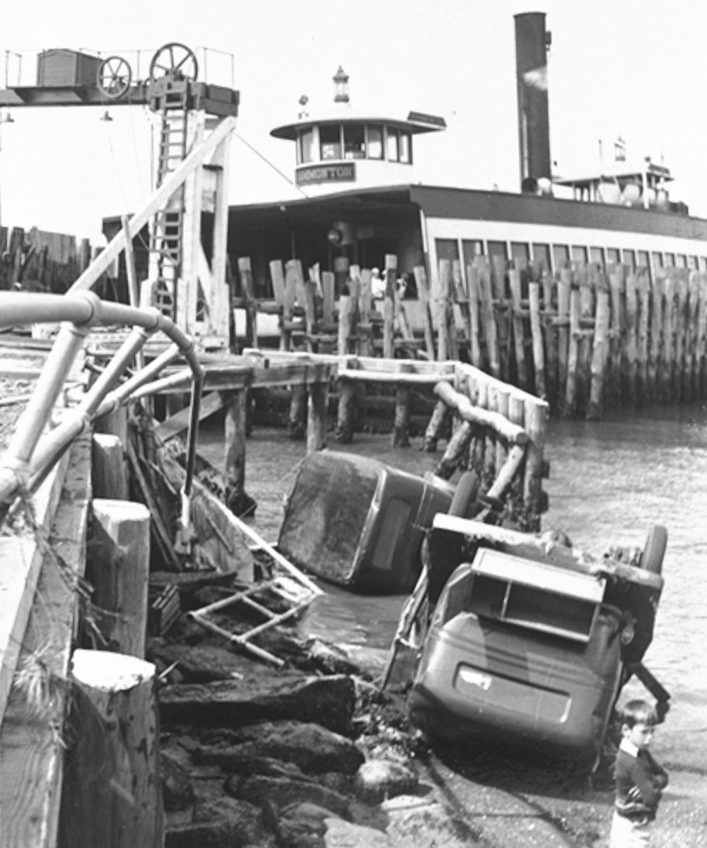 West Ferry after the Great Hurricane of 1938. Photo courtesy Jamestown Historical Society