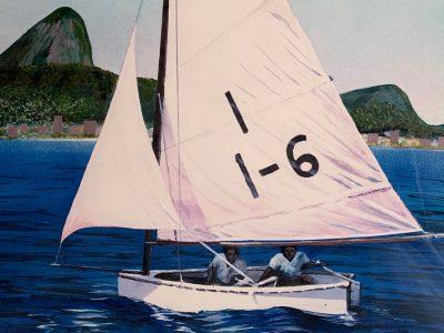 Vince Brun first sailboat