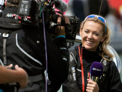 Shirley Robertson America's Cup interviewer