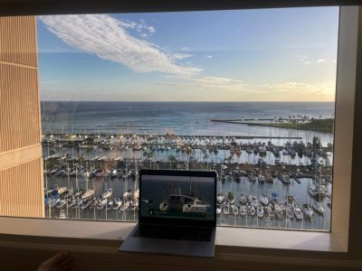Watching Tokyo Olympics from Honolulu hotel room